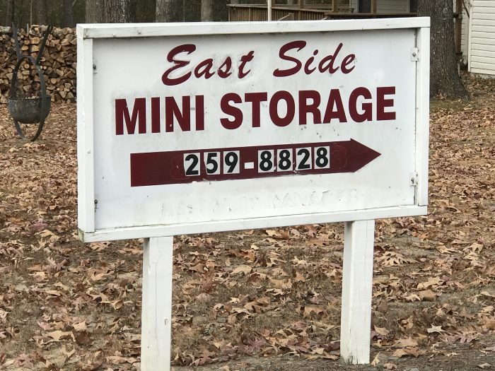 East Side storage Sign